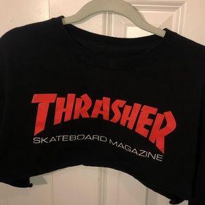 cropped thrasher shirt